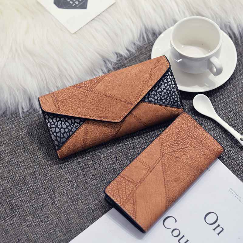 Trifold Leather Clutch Purse 1