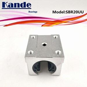 Image 5 - Kande محامل 4 قطعة SBR20UU SBR20 UU SBR20 مفتوحة تحمل كتلة أجزاء التصنيع باستخدام الحاسب الآلي الشريحة ل 20 مللي متر دليل خطي SBR20 20 مللي متر SME20UU SME SBR