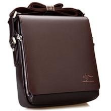 وصل جديد العلامة التجارية الفاخرة الرجال حقيبة ساعي حقيبة كتف جلدية خمر وسيم حقيبة كروسبودي حقائب شحن مجاني