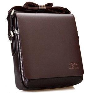 Image 1 - New Arrived luxury Brand mens messenger bag Vintage leather shoulder bag Handsome crossbody bag handbags Free Shipping