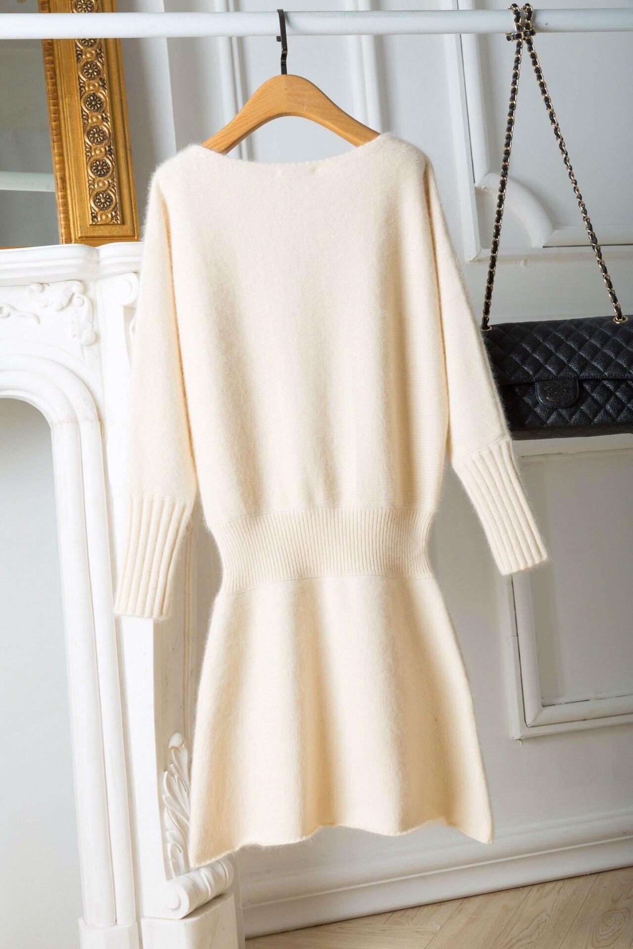 Chandail Femmes Tailles 1 Robe Slinky 2019 D'hiver Beige Nouveau Vêtements Couleurs Laine qB7wWIWv