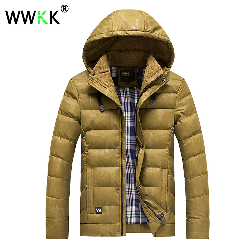WWKK NEW Winter Jacket Parka Men Clothes Thick Coat Male Designer Cotton Padded Jacket Warm Wind <font><b>Poof</b></font> Outwear Overcoat Plus Size image