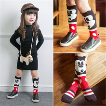 2016 new Baby Cartoon Socks Kids Cotton Knit Knee Long Socks Leg Warmers Boys  Girls Clothing Calcetines