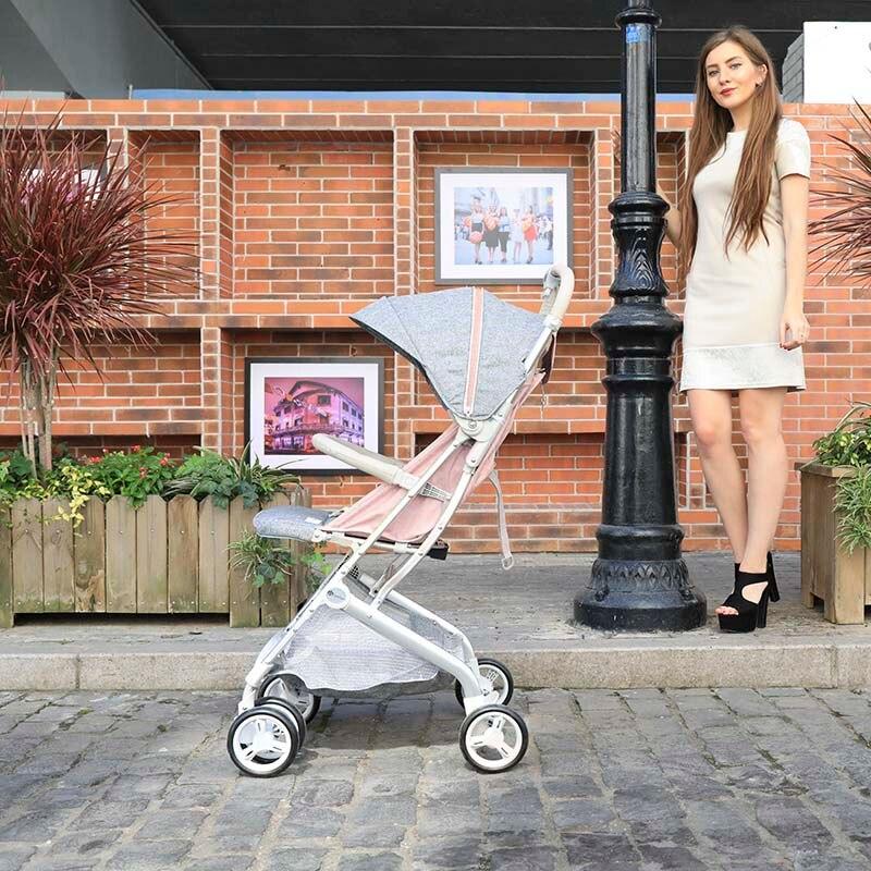 2019 nouveau bébé poussette peut s'asseoir inclinable léger pliant poussette un bouton pliant 5.7 kg ultra léger poussette