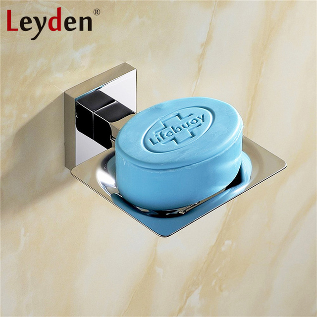 Leyden Stainless Steel Soap Holders Polished Chrome Bathroom Soap Holder  Wall Mounted Shower Bar Soap Dish