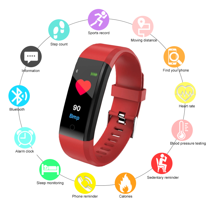Worldwide delivery smart band id115 plus hr in NaBaRa Online