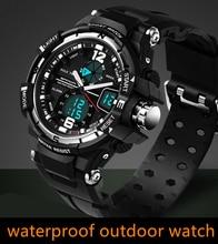 Mâle De Mode Sport Militaire Montres 2016 Nouveau SANDA Montres Hommes Marque De Luxe 3ATM 30 m Plongée LED Numérique Analogique Quartz montres