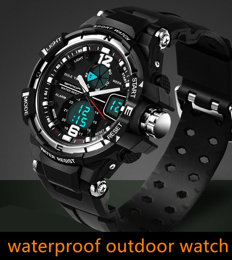 Men's Watches 2018 New Brand Smael Fashion Watch Men G Style 50m Professional Waterproof Sports Military Watches Shock Luxury Analog Digital Watches