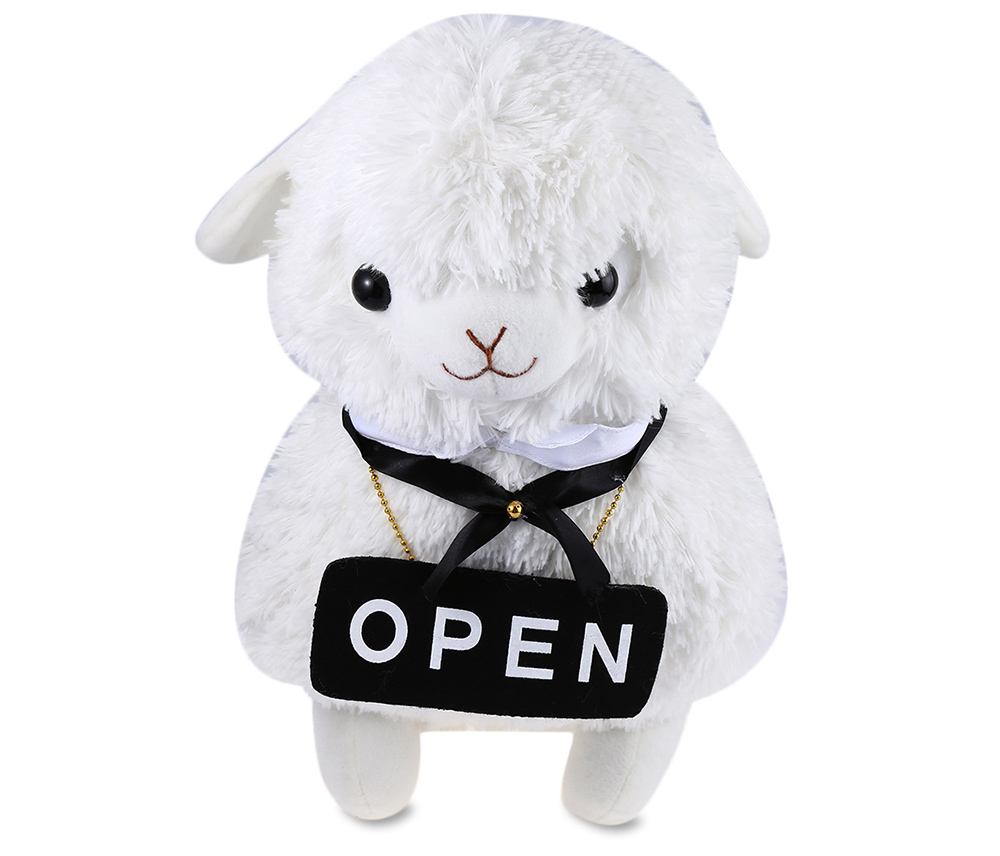 Hot Sale Alpaca Plush Stuffed Toy 42CM Height Lovely Animal Plush Toy With Cafe House Server Great Decoration To Your Home