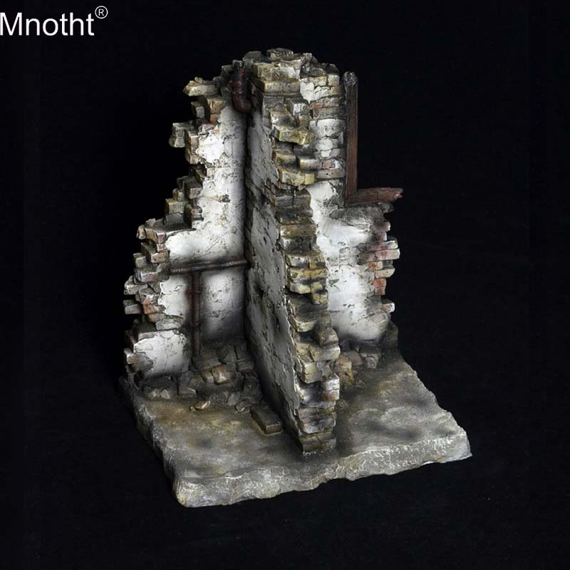 Mnotht 1/6 Platform Series Ruins Scene Broken Wall Streets Battlefield King Soldier Platform TC-S001 Decoration Birthday Gift Mb ruins