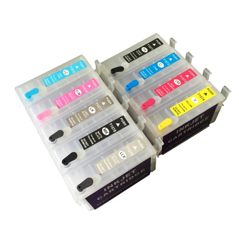 5sets for Epson P600 surecolor P600 SC-P600 refillable ink cartridges with auto reset chips T7601 einkshop for epson p600 ink cartridge for epson surecolor sc p600 printer t7601 t7602 t7603 t7604 t7605 t7606 t7607 t7608 t7609