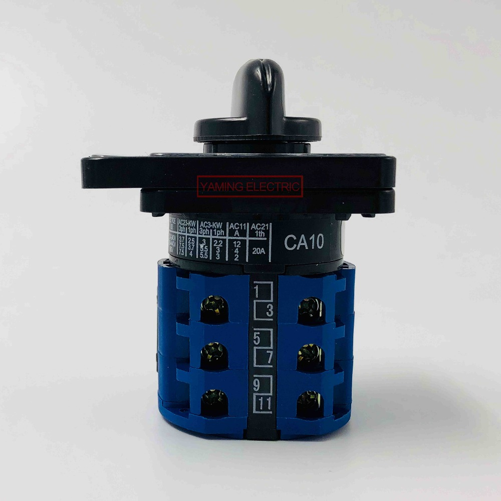 medium resolution of ca10 voltmeter selector cam switch 3 phase 4 wire 7 position 20a 660v changeover rotary switch 12 terminals lw26 in switches from lights lighting on