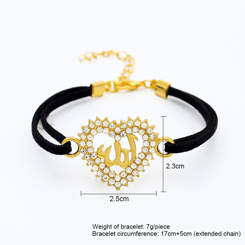 SONYA 2018 Hot selling fashion simple Middle East islamic women heart Muslim bracelet birthday gift