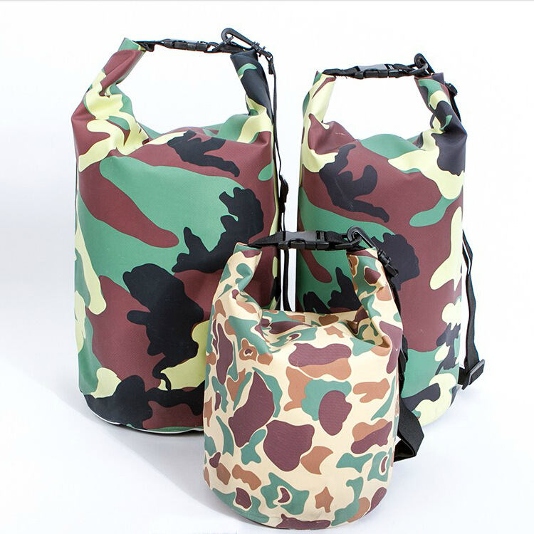 1pc 20L PVC Camouflage Outdoor Waterproof Bags Ultralight Drifting Rafting Canoe Swimming Camping Hiking Dry Bag Pouch 1722RB