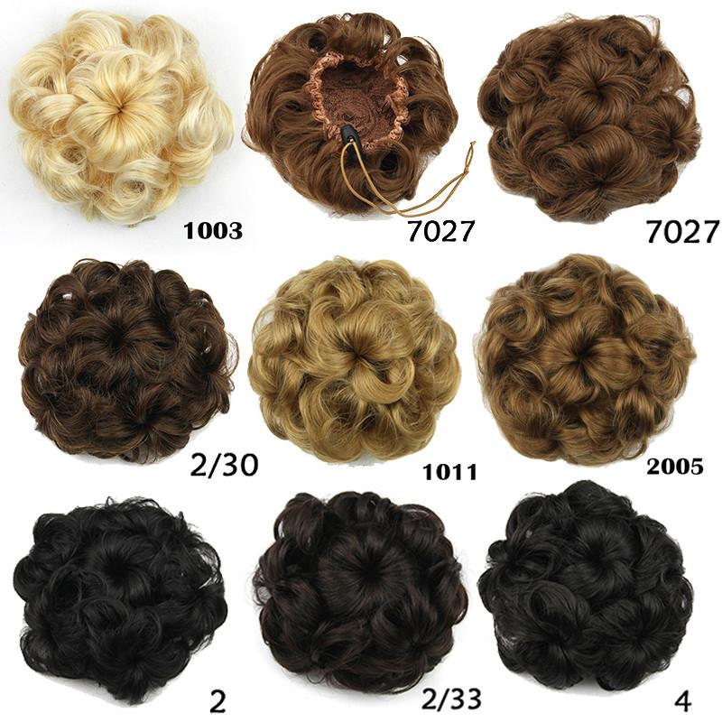 2015 mode hepburn contrat queue perruque femmes fille cheveux synthtiques chignon chignon postiche clip dans - Postiche Chignon Mariage