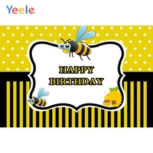 Yeele Birthday Newborn Baby Show Bee Honey Yellow Backdrop Party Portrait Photo Backgrounds Photocall For Studio