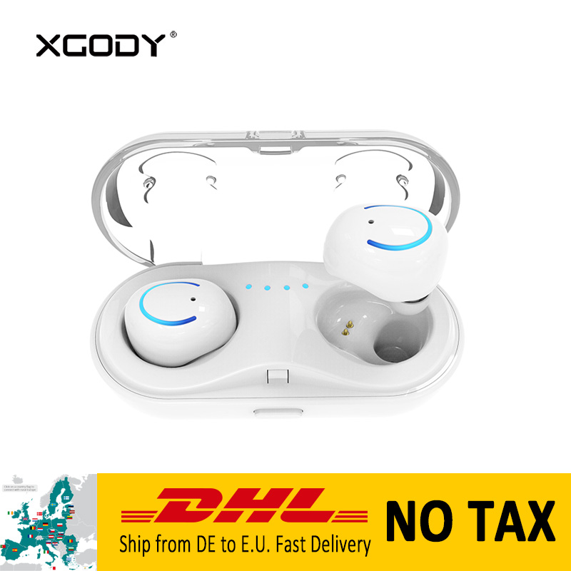 XGODY Q18 TWS In-Ear Wireless Bluetooth Earphone with Mic Handsfree Phone Call Sports Earpod Earphone for Phone Wireless Earbuds egrincy x11 mini bluetooth car earphone wireless handsfree in ear headsets usb magnetic charging with usb socket mic for iphone