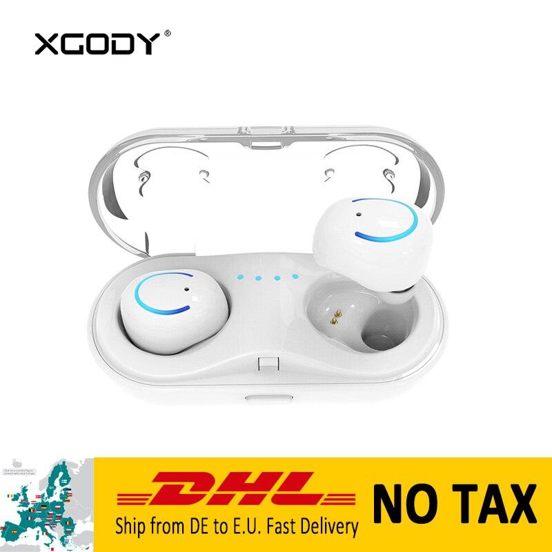 XGODY Q18 TWS In-Ear Wireless Bluetooth Earphone with Mic Handsfree Phone Call Sports Earpod Earphone for Phone Wireless Earbuds