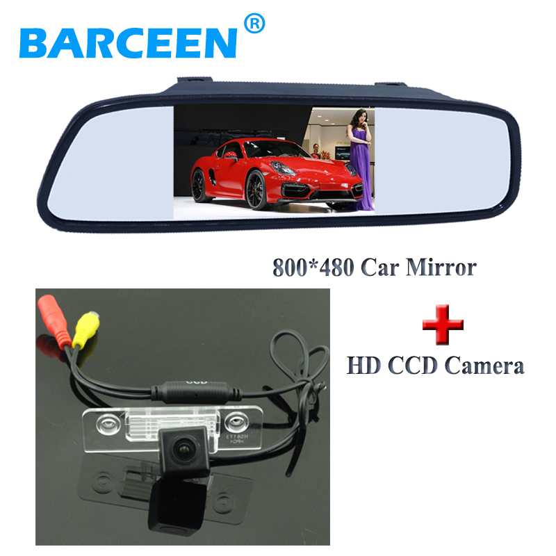 цена на 2 in 1 set include 4.3 car rear view monitor lcd screen with ccd image sensor car reversing camera adapt for Skoda Octavia