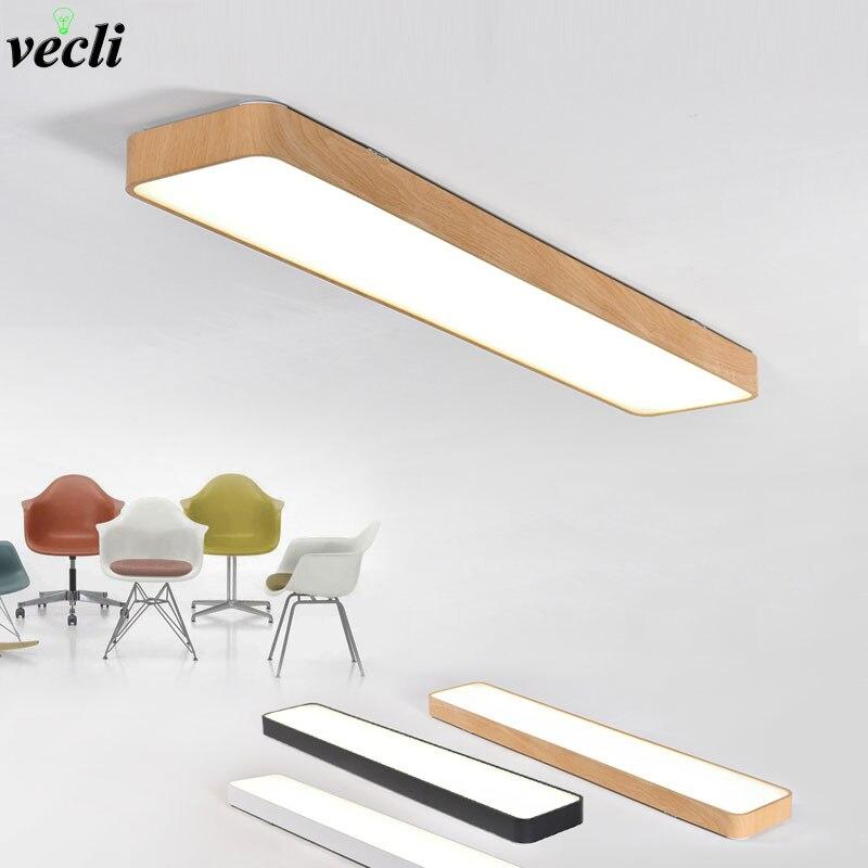 Modern LED Ceiling Lights Black White Square Office Light With ceiling lamp aisle bedroom home lighting light fixtures