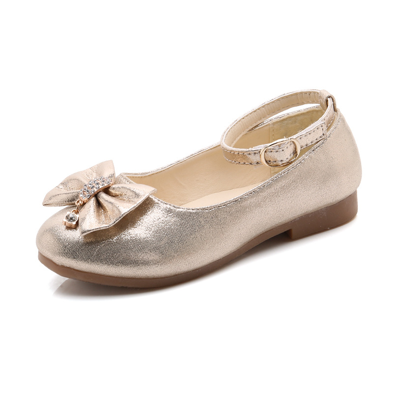 2018 Spring Summer Baby Girls Leather Shoes Bow-knot Children Casual Pu Shoes Comfortable Soft Bottom Fashion Princess Shoes
