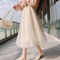 Фатиновая юбка с мелким декором