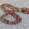 ( Min Order1 ) 6 * 8 mm Multicolor turmalina cuentas de Jade Jasper Beads ronda DIY perlas piedras 15 pulgadas Design Jewelry Making