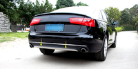 For Audi A6 C7 Car Rear Bumper Cover Trim Stainless Steel 2012 2013 2014 2015