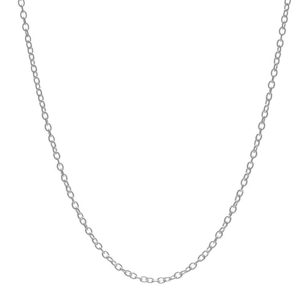 Solid 925 Sterling Silver 1 0 MM Handmade Boho Round Cable Chain Necklace 16 quot 2 quot Extender T8930 in Necklaces from Jewelry amp Accessories