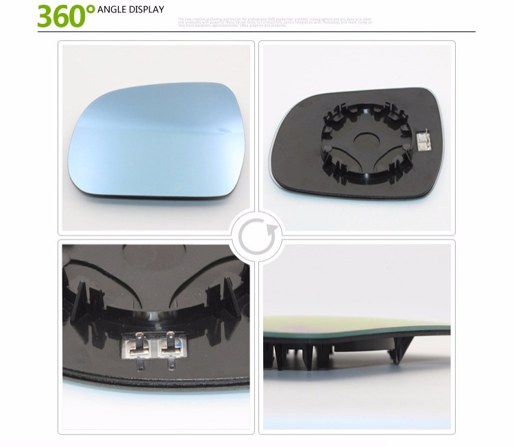 Passenger Side Heated Wing Door Mirror Glass For Honda Civic 2006-2012 Clip On