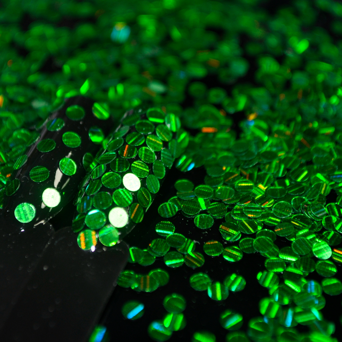 2.5mm Nail Round Sequins Laser Green Stripe DIY Nail Art Glitter Seqiuns Full Cover Nails Tips D8067