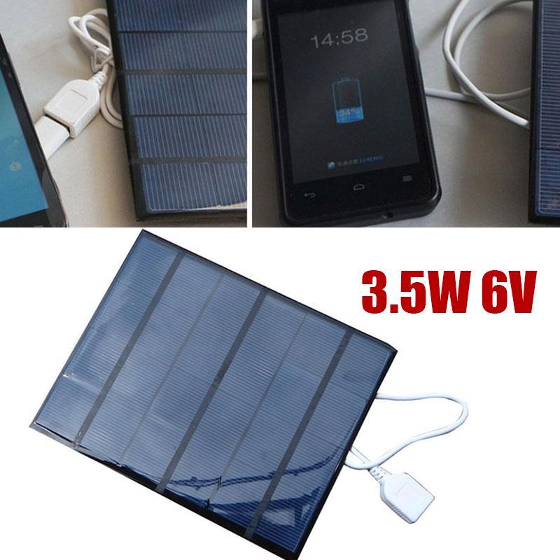 3.5W 6V solar battery panel USB2.0 Folding Solar Panel Bank External Charger Power Panel For Smart Mobile Phone