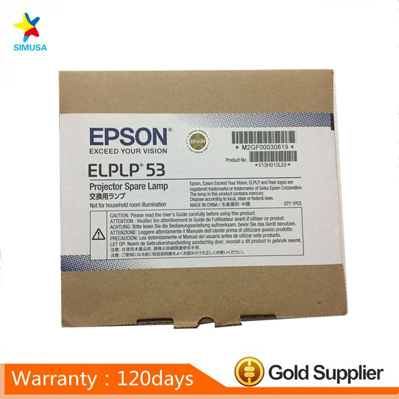 ELPLP53  Original lamp with Original package  for  B-1830/EB-1900 EB-1910 EB-1915 EB-1920W EB-1925W EB-C1050X POWERLITE 1830 original projector lamp elplp53 v13h010l53 for epson eb 1913 h313b emp 1915 h314a powerlite 1830 powerlite 1915 vs400