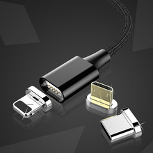 3 In 1 Magnetic Charging Cable 8 Pin Lighting For iPhone X XS XR 8 7 Plus Micro USB Type C For Xiaomi Huawei Sync Data Cables 1M pofan 8 pin micro usb data sync charging cable