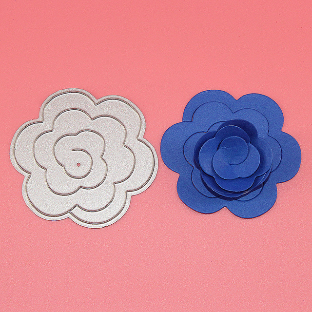 New rose flower dies metal cutting dies christmas embossing new rose flower dies metal cutting dies christmas embossing scrapbook stamps craft paper folder card stencil mightylinksfo