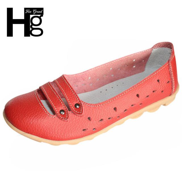 Hee grand mulheres flats boa pu de couro confortáveis calçados femininos deslizamento Em Sapatas de Barco Causal Plus Size 35-41 Transporte da gota XWZ1951