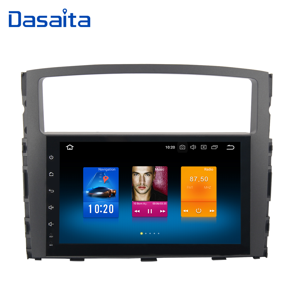 9 1 din voiture android radio gps android 8.0 pour Mitsubishi Pajero V97 V93 2006 2007 2008 2009 2010 2011 2012 2013 mp3