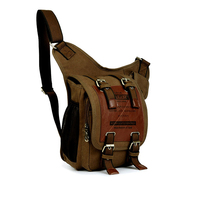 Vintage canvas Bags For Men Outdoor Travel duffle Ancient Europe Tide Wear resistant Brown backpack bag Hip Hop Bag
