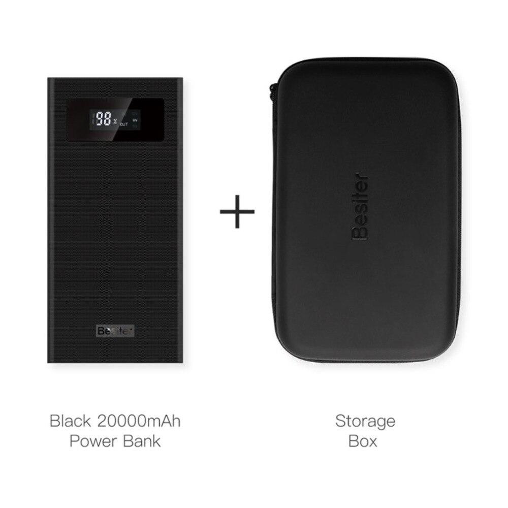 Besiter 20000 mah Affichage Numérique Puissance Banque Portable Taille En Plein Air Voyage Batterie Chargeur Alimentation pour Smartphones