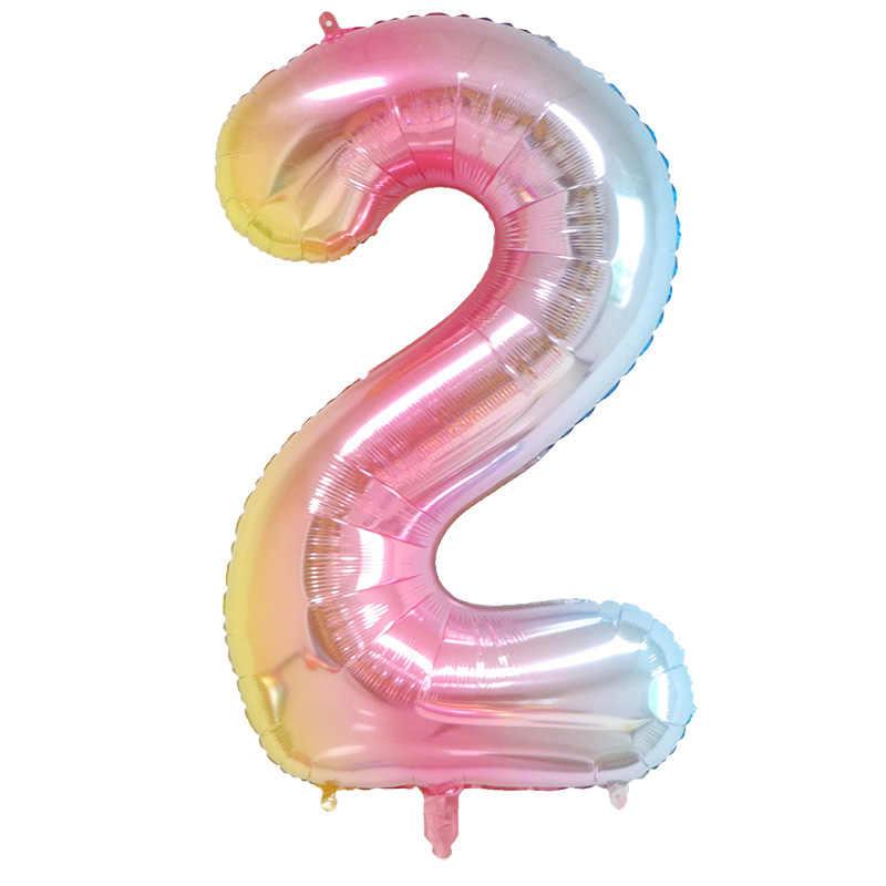 16 32 дюймов Большой витраж, количество воздушных шаров, для детей 0, 1 2 3 4 5 6 7 8 9 цифровой воздушные шары с гелием на свадьбу, день рождения, вечерние аксессуары для детей
