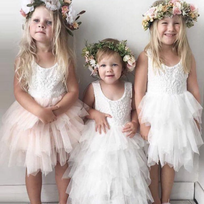 Princess Summer Girls Lace Dress 2018 Purple White Tutu Dresses For Kids Birthday Party Dress Baby Girl Pageant Formal Dress handmade lace tulle tutu dress princess flower girl dresses for wedding and party baby kids girls birthday pageant formal dress