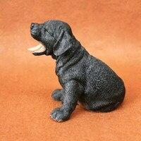 Meilleur travail résine Labrador Retriever chien figure, car styling accueil chambre décoration, laboratoire amant collection article De Noël cadeau jouet
