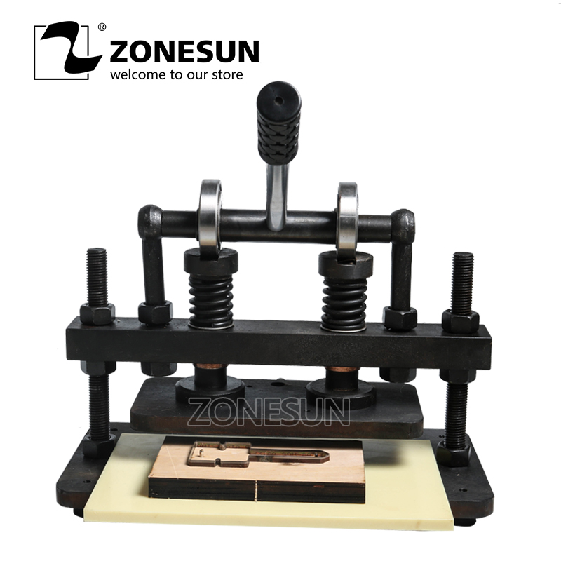 Zonesun 26x12cm Double Wheel Hand Leather Cutting Machine