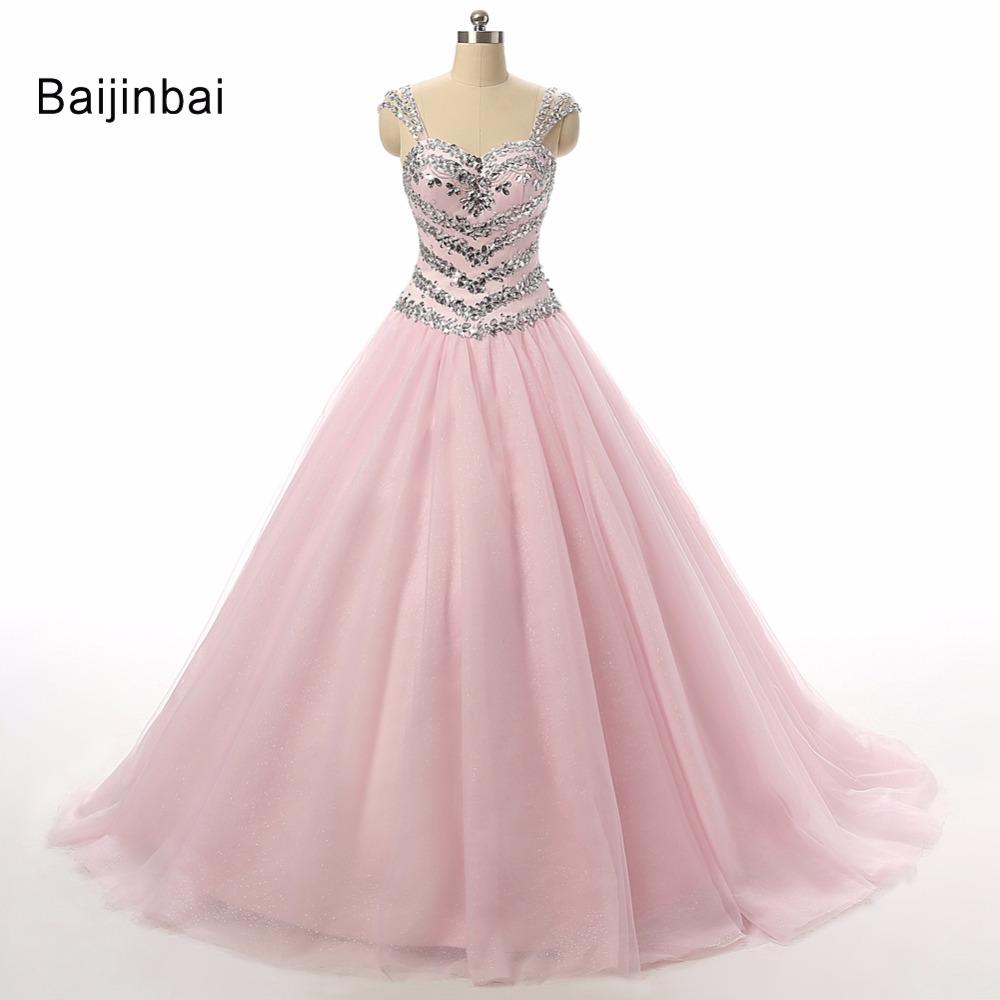 Online Get Cheap Vestido De Boda De Cristal De Color Rosa ...
