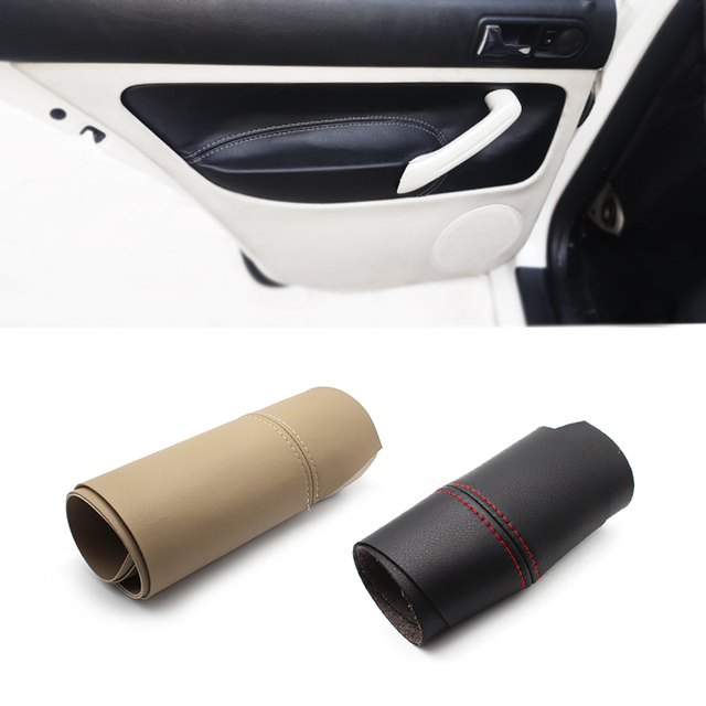 LHD Car Door Panel Armrest Handle Microfiber Leather Cover For VW Golf MK4 Bora Jetta 1998 1999 2000 2001 2002 2003 2004   2006