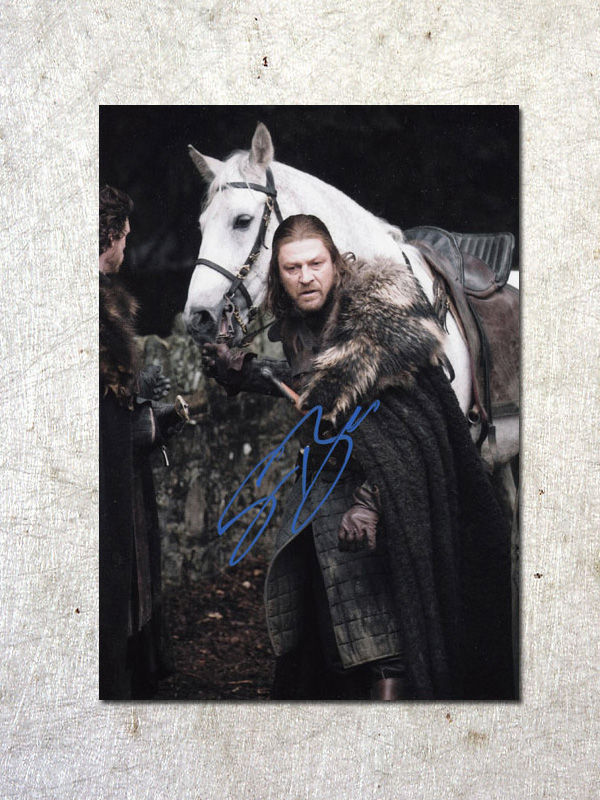 signed Sean Bean Game of Thrones autographed original photo 7 inches free shipping  092017A a game of thrones