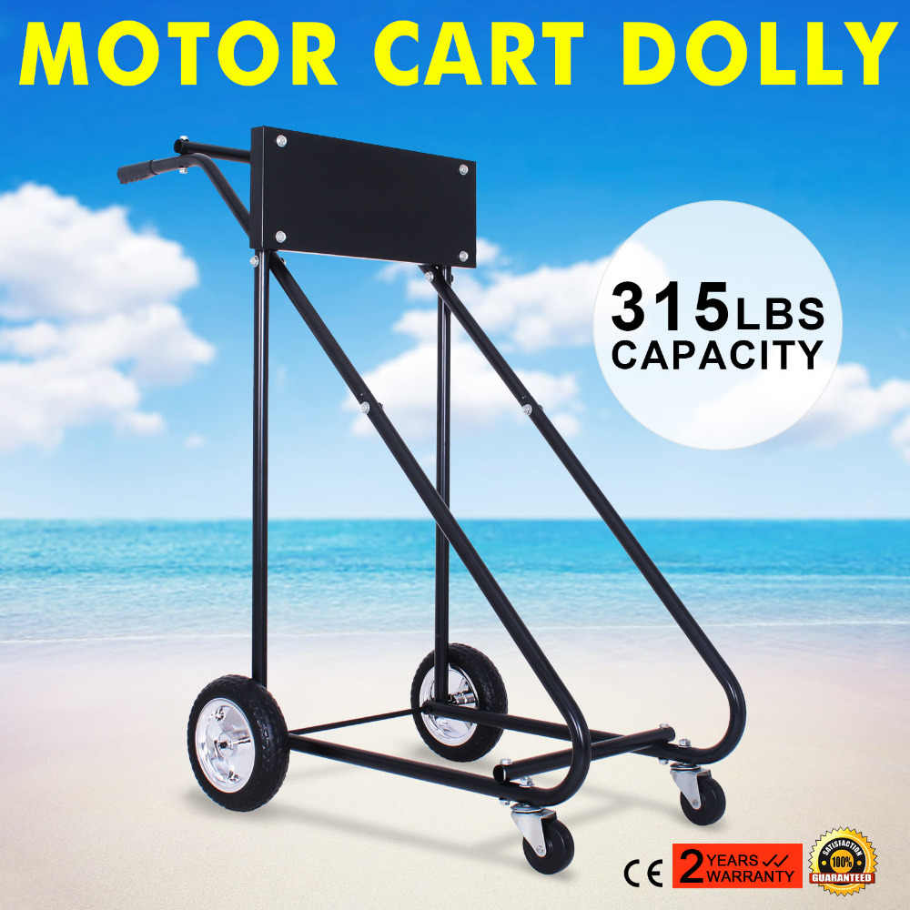 140KG OUTBOARD MOTOR STAND TROLLY 315 LBS Outboard Boat Motor Stand Carrier  Cart Dolly Storage Pro Heavy Duty New