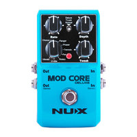 NUX MOD CORE DELUXE Guitar Effect Pedal 8 Modulation Effects Preset Tone Lock High Quality Guitarra Pedal Guitar Parts