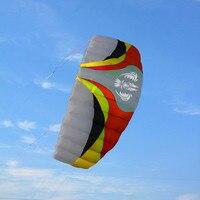 Бесплатная доставка Высокое качество большой Parafoil кайт quad line трюк кайт с летающими инструментами кос парусный кайтсерф спортивный пляжный