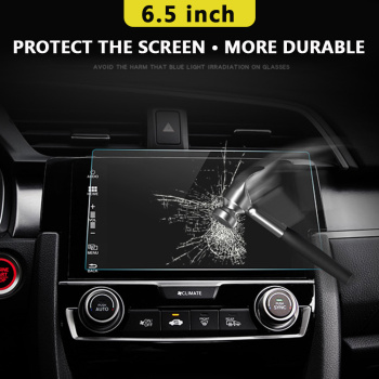 Vehemo Car Tempered Glass For Car GPS MP5 Video Player Screen Protector Film Premium 6.5 Inchs 144x79mm DVD Guard LCD Monitor image